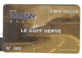 Carte club Voxan