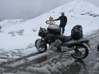 Roadster et neige col Bonnette