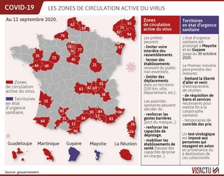 carte coronavirus en
